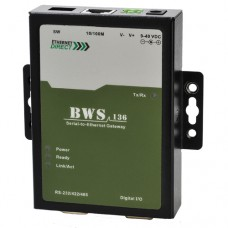 EthernetDirect Single Port Serial to Ethernet Gateway  - BWS-136