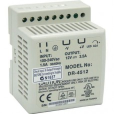 Meanwell Din Rail Power Supply 24V, 45W DC - DR4524