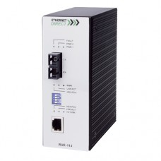 EthernetDirect Industrial Fast Ethernet Media Converter 1x 10/100Mbps and 1x 100M SM Fibre (SC) Port - RUE-113