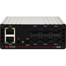 Epygi QX200 IP PBX, 4x FXO & 2x FXS, 24x SIP Ext. expandable to 200, line in/out ports, LAN/WAN - QX-0200-0000